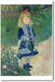 A Girl with a Watering Can 1876 - Pierre Auguste Renoir