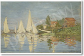 Regatta at Argenteuil 1872 - Claude Monet
