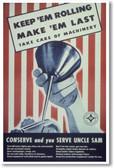 Make 'Em Last - NEW Vintage Reprint Poster