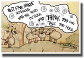 Sheep - But Far More Numerous Were The Herd of Such Who Think Too Little And Talk Too Much - John Dryden - NEW Classroom Motivational PosterEnvy Poster