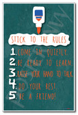 White Glue Bottle - Stick To The Rules - NEW Classroom Rules PosterEnvy Poster