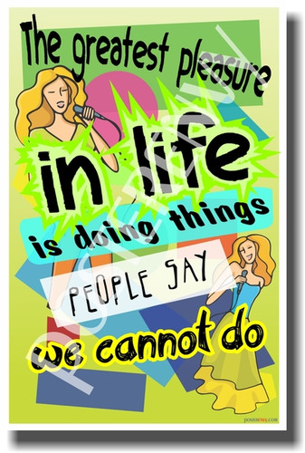 Goals Accomplishments Success - The Greatest Pleasure in Life Is Doing Things People Say We Cannot Do - NEW Classroom Motivational PosterEnvy Poster