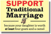 Goat - Support Traditional Marriage - NEW Marriage Equality PosterEnvy Poster