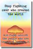 Explosion Mushroom Cloud Stop Fighting Over Who Created The World And Fight Against The People Who Are Trying To Destroy It - NEW Motivational PosterEnvy Poster