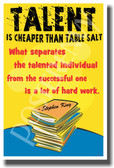 Talent Is Cheaper Than Table Salt - Books - Stephen King - NEW Classroom Motivational PosterEnvy Poster