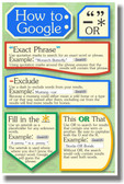 PosterEnvy - How to Google - NEW Classroom Internet Search Engine Poster
