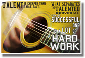 Talent Is Cheaper Than Table Salt - Acoustic Guitar - Stephen King - NEW Classroom Motivational PosterEnvy Poster