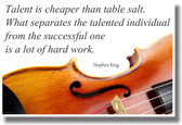 Talent Is Cheaper Than Table Salt - Violin - Stephen King - NEW Classroom Music Musician Motivational PosterEnvy Poster