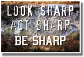 Look Sharp, Act Sharp, Be Sharp - NEW Classroom School Motivational PosterEnvy Poster