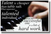 Talent Is Cheaper Than Table Salt - Piano - Stephen King - NEW Classroom Motivational Music Musician PosterEnvy Poster