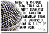 Talent Is Cheaper Than Table Salt - Microphone - NEW Classroom Music Musician Motivational PosterEnvy Poster
