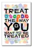 Treat Others The Way You Want To Be Treated - Different People Classroom Motivational PosterEnvy Poster