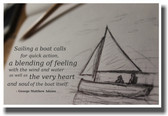 Sailing Sailors Sailing a Boat - George Matthew Adams quote - NEW Classroom Motivational PosterEnvy Poster