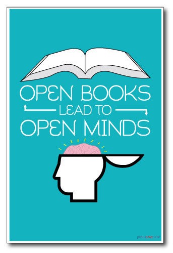 Reading - Open Books Lead To Open Minds - NEW Classroom Motivational PosterEnvy Poster