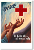 Give To The Red Cross - NEW Vintage Movie Reprint Poster