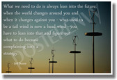 Wind turbines wind energy technology - What we need to do is always lean into the future... Jeff Bezos - NEW Technology Motivational PosterEnvy Poster