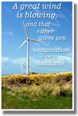 Great Wind - NEW Classroom Motivational Poster
