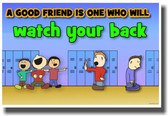 Watch Your Back - NEW Classroom Motivational Poster
