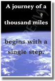 The Journey of a Thousand Miles - NEW Classroom Motivational Poster