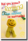 Smiling is the Secret to Happiness - NEW Classroom Motivational Poster