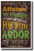 Learning Is Not Attained - NEW Classroom Motivational Poster (cm716)