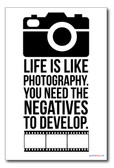 Life is Like Photography - NEW Classroom Motivational Poster