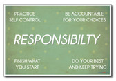 Responsibility - NEW Classroom Motivational Poster