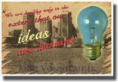 Ideas are Humane - Lightbulb - NEW Classroom Motivational Poster