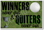 Winners Never Quit - NEW Classroom Motivational Poster