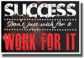 Success - NEW Classroom Motivational Poster