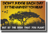 Don't Judge Each Day - NEW Classroom Motivational Poster