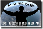 Do The Thing You Fear - NEW Classroom Motivational Poster