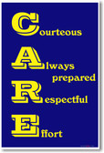 C.A.R.E - NEW Classroom Motivational Poster