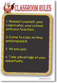 Classroom Rules #11 - NEW Classroom Motivational Poster