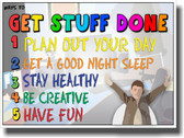 Get Stuff Done  - NEW Classroom Motivational Poster