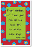 Every Student Can Learn - NEW Classroom Motivational Poster