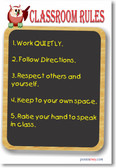 Classroom Rules #7 - NEW Classroom Motivational Poster