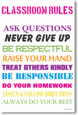Classroom Rules #6 - NEW Classroom Motivational Poster
