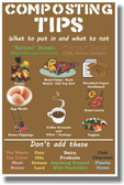 Composting Tips - NEW Health Think Green Self Help POSTER
