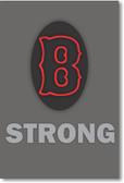 """B"" Strong - NEW Motivational Patriotic BOSTON MASSACHUSETTS USA POSTER"