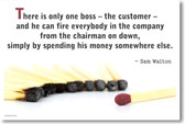 There Is Only One Boss - The Customer - NEW Classroom Motivational Poster