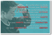 Be Careful What You Think - NEW  Classroom Motivational Poster