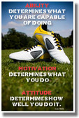 Ability Motivation and Attitude - New Classroom Motivational Poster