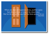 Doors - Helen Keller Quote - NEW Classroom Motivational Poster