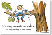 PosterEnvy - It's Okay To Make Mistakes - NEW Classroom Motivational Poster