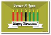 Happy Kwanzaa Candles Peace & Love Classroom Holiday PosterEnvy Poster