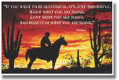If You Want To Be Successful - Will Rogers - NEW Classroom Motivational Poster