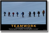 Teamwork - (Ski Team) Coming Together is a Beginning. Keeping Together is Progress. Working Together is Success. - Henry Ford