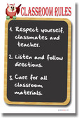 Chalkboard - Classroom Rules Poster
