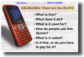 Questions to Improve Your Brainpower! - Cellphone
